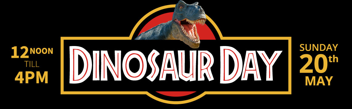dinosaur day event may banner