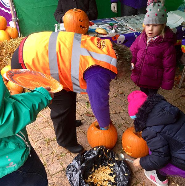 Thurnscoe Halloween Spooktacular Pumpkin Carving